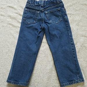 Faded Glory Bottoms - Boy's Faded Glory blue Jean's 4 w/grass stain